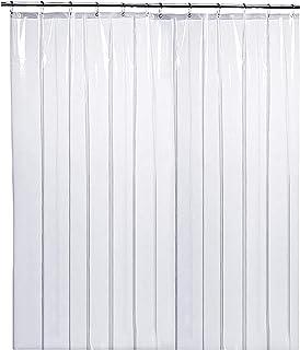 "LiBa PEVA 8G Bathroom Shower Curtain Liner, 72"" W x 72"" H, Clear 8G Heavy Duty Waterproof Shower Curtain Liner Anti-Microb..."