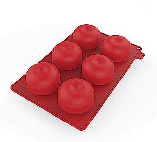 CECOA - Moule silicone en forme de pomme /100% silicone extra soft, démoule facile / compatible four, micro-ondes, congéla...