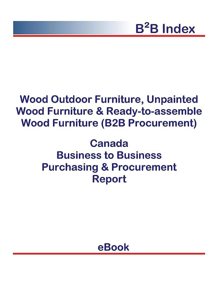 マウスマウスナラーバーWood Outdoor Furniture, Unpainted Wood Furniture & Ready-to-assemble Wood Furniture (B2B Procurement) in Canada: B2B Purchasing + Procurement Values (English Edition)