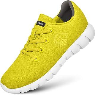 GIESSWEIN Merino Runners MEN - Ademende sneaker 100% merino wol, Lace up, Lage schoen, Casual schoen, Herenschoenen