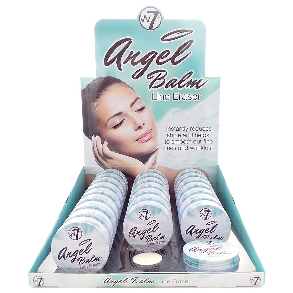 見分ける厚さ免疫するW7 Angel Balm Line Eraser Display Set, 24 Pieces plus Display Tester (並行輸入品)
