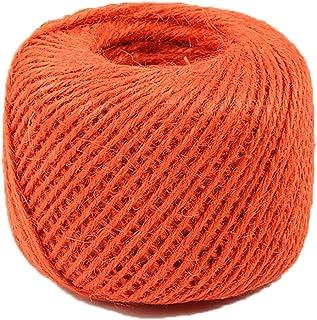 Diyjoys Orange Color 50 yards per roll Natural Jute twine 2.0mm string for art craft gift