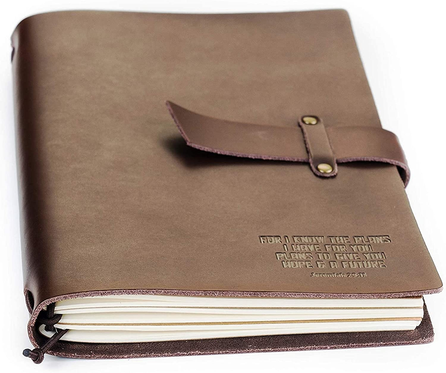 Double Creek Refillable Genuine Milwaukee Mall Leather Embossed K Journal Max 43% OFF I For