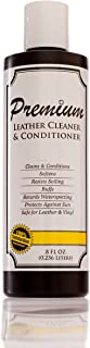 Leather Cleaner & Conditioner by Vital Brandz Cleans & Protects Boots, Furniture, Car Interiors, Jackets, Purses, White Leather and More - Easy to Apply - No Sticky Residue – Boosts Life of Leather – 8 Oz – Made in the USA