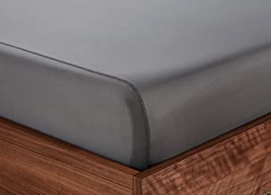 SHEEX Original Performance Fitted Sheet, 1 (One) Fitted Sheet ONLY, Ultra-Soft, Graphite, Queen