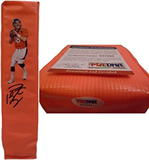 Peyton Manning Denver Broncos Autographed Hand Signed Full Size Photo Touchdown Football End Zone Pylon with PSA DNA Authentication X37294- UT Vols- University of Tennessee Volunteers