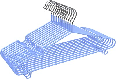 Ninonly ハンガー 洗濯ハンガー 物干しハンガー すべらない 洗濯 ハンガー 頑丈 錆びにくい 衣類変形にくい 乾湿両用 ブルー 12本組