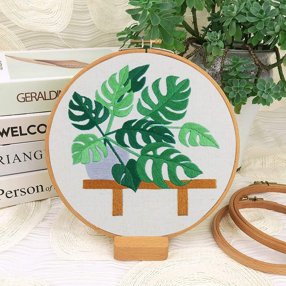 for Home Decor Gifts Hoops,Needle Cross Stitch Kits for Beginners ...