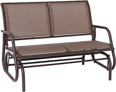 Super Amazon Com Giantex Patio Glider Textilene And Stable Steel Creativecarmelina Interior Chair Design Creativecarmelinacom