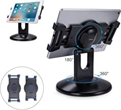 AboveTEK Retail Kiosk iPad Stand, 360° Rotating Commercial Tablet Stand, 6-13.5