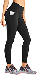 CRZ YOGA Women's Naked Feeling Workout Pants High Waisted Yoga 7/8 Leggings with Pockets -25 Inches