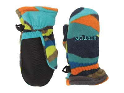 Burton Kids Fleece Mitt (Toddler) (Summit Stripe) Extreme Cold Weather Gloves