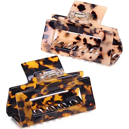Details about  /Marble Print Large Hair Claws Rectangle Hair Clip Hair Clamp Hairpin Barrette