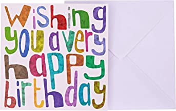 J&G Greeting Cards Wishing You A Very Happy Birthday Card - Multi Color