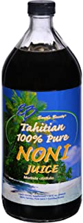 Earths Bounty Tahitian Pure Noni Juice - Certified Kosher - Sugar Free - Preservative Free - 32 fl oz (Pack of 4)