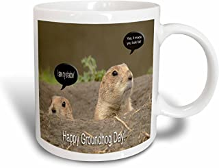 3dRose mug_2 7350_2 Groundhog I Saw My Shadow Ceramic Mug, 15-Ounce