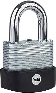 Yale Y127B/45/125/1 - Protector Laminated Steel Weatherproof Padlock (45 mm) - Outdoor Hardened Boron Shackle Lock for Shed, Gate, Garage, Chain - 3 Keys - Maximum Security