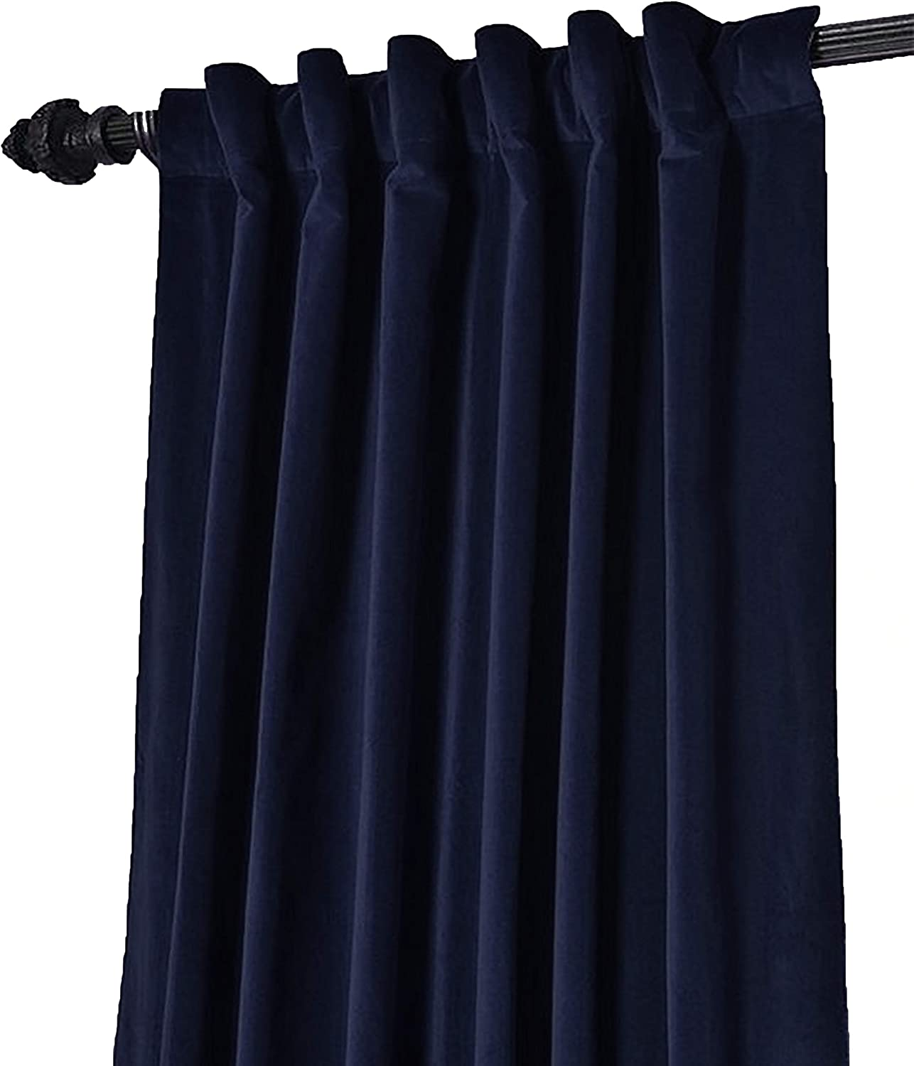 Amore Beaute Handcrafted Navy Blue lowest price Customi Velvet Regular discount Curtain Cotton