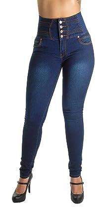Fashion2Love Plus/Junior Size Colombian Design High Waist Jeans