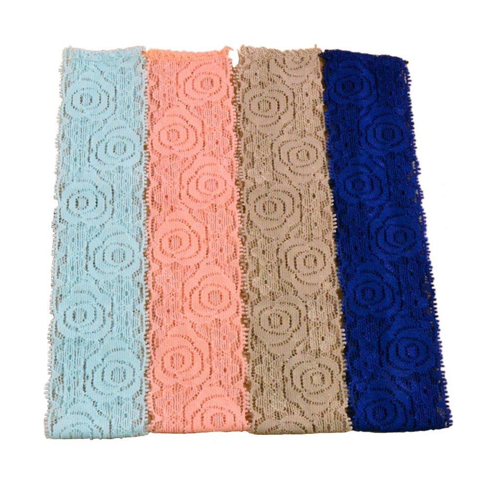 BERON Pack of 16 Baby Girl Lace Interchangeable Headbands Elastic Hair Ties AID029