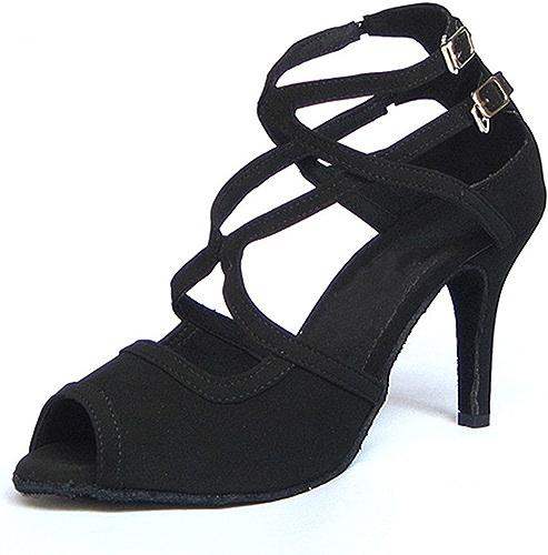 LEIT YFF Cadeaux Femmes Dance Danse Danse Latine Dance Tango Chaussures 7.5CM,noir,41