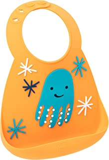 Make My Day Silicon Crumb Catcher Baby Bib (Hassle Free Packaging, Octopus)