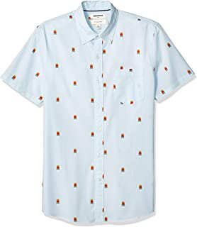 Goodthreads Slim-fit Short-Sleeve Printed Poplin Shirt Hombre