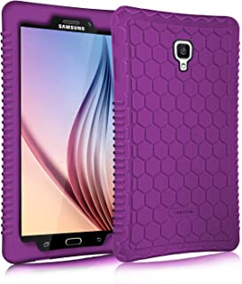 Fintie Silicone Case for Samsung Galaxy Tab A 8.0 2017 Model T380/T385, Light Weight Shock Proof Silicone Cover [Anti Slip] [Kids Friendly] for Galaxy Tab A 8.0 Inch SM-T380/T385 2017 Release, Purple