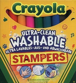 Crayola - 8 Mini Stampers Emoticones ultra lavables - Loisir créatif - Coloriage - papeterie - dessin - à partir de 3 ans ...