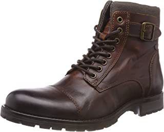 Jack & Jones Jfwalbany Leather Brown Stone STS, Botas Estilo Motero para Hombre
