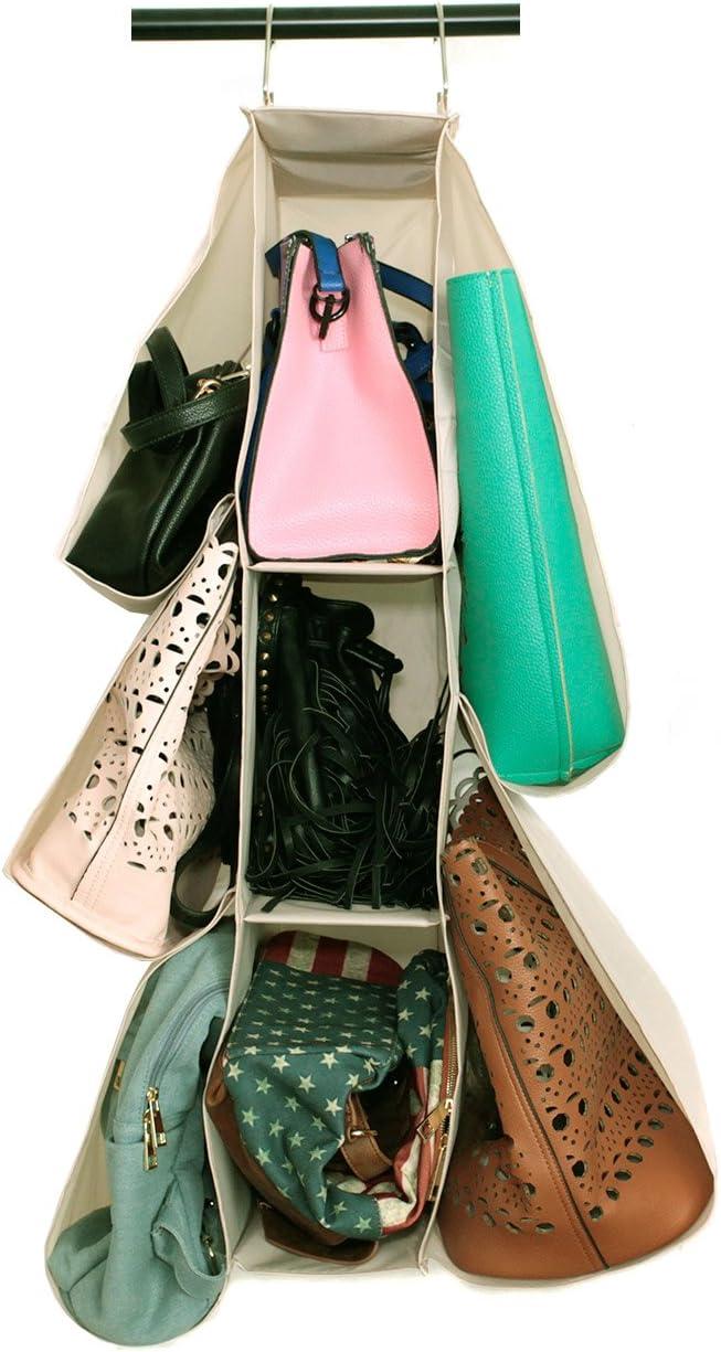 Paylak shipfree SCR505 Purse or Shoe Organizer Hanging Closet Print Beige 100% quality warranty