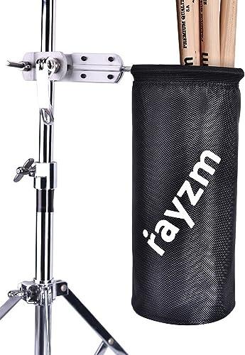 Rayzm support de sac pour baguette batterie, Nylon mallet/brosse/batteur Porte-baguette avec une pince en aluminium p...
