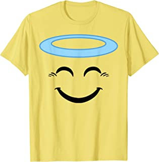 Halloween Emojis Costume Shirt Smiling Face With Halo Angel T-Shirt