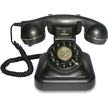 Richer-R Teléfono Fijo Retro,Teléfono Antiguo Vintage,Casa Mesa ...