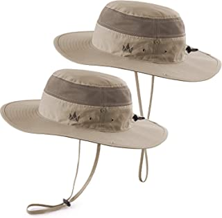 Sun Hats 2-Pack - Safari Hat for Men Women and Children, Outdoor Boonie Hat, for Camping, Fishing, Summer, Gardening
