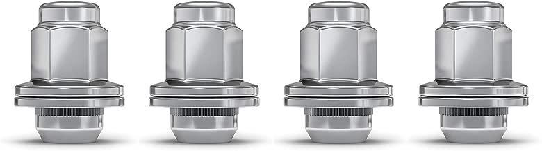 White Knight 5309DL Chrome 14mm x 1.50 Toyota Tundra OEM Style Duplex Mag Lug Nut, 4 Pack