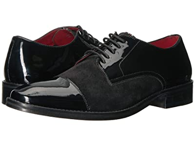 CARLOS by Carlos Santana West (Black Patent Leather/Suede) Men