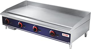 Commercial Countertop Manual Griddle - KITMA 48 Inch Natural Gas Flat Top Griddle - Restaurant Equipment for Barbecue, 120,000 BTU