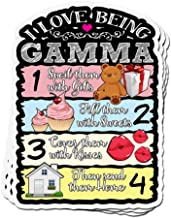 ViralTee 3 PCs Stickers I Love Being Gamma Spoil Them with Gifts 4 × 3 Inch Die-Cut Decals