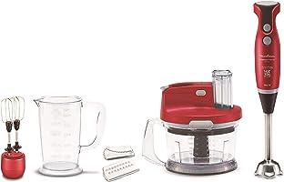 Moulinex DD2035EG Hand Blender- 1000 Watt, Red, Stainless Steel