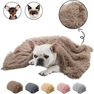 Dasior Pet Dog Cat Fluffy Fur Blanket Sleep Mat Reversible Double Layer Washable for Dog Bed, Couch, Sofa, Car
