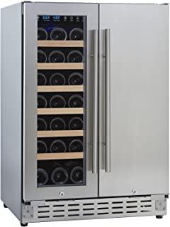 N'FINITY PRO HDX by Wine Enthusiast 24 Inch Wine & Beverage Center – Holds 60 Cans & 21 Wine Bottles – Freestanding or Built-In Wine Refrigerator