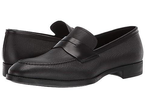 Giorgio Armani Textured Leather Loafer