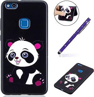 Felfy kompatibel med Huawei P10 Lite skal skal, Panda Baby