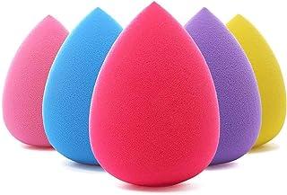 BEAKEY 5 Pcs Makeup Sponge Set Blender Beauty Foundation Blending Sponge, Flawless for Liquid,...