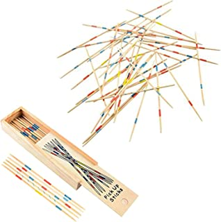 Kicko Wooden Pick-up Sticks Game - 12 Pack with Game Instructions - Loads of Fun