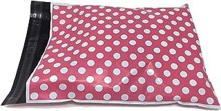 Shop4Mailers 10 x 13 粉色波点聚乙烯袋邮寄信封,2 毫米 500 Pack 粉红色