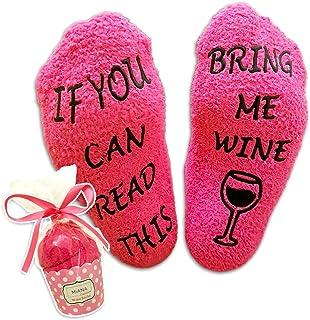 Dilara Weinsocken If you can Read this bring me some Wine Geschenkidee f/ür alle Weinliebhaber