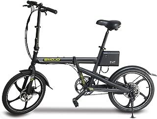 Emojo City Trek Folding Electric Bicycle 20 Inches Tires City Bike 36V E-Bike Beach Cruiser Foldable E-Bike Commuting eBike