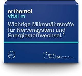 Orthomol vital m 30-talet granulat, tablett & kapslar, grapefrukt – vitaminkomplex för män med trötthet och trötthet
